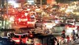 Night traffic in the Megapolis