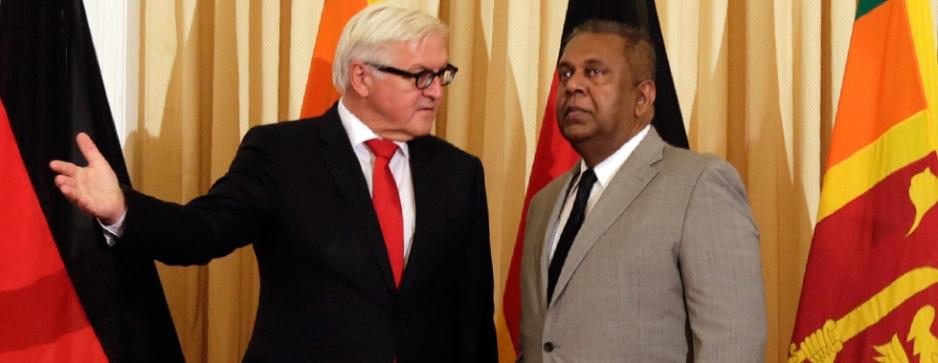 In diplomatic Sinhala, German delegate stops media quarrel