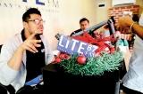Lite87 crew at the arcade for the festive season