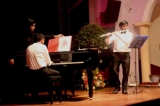 A flautist and pianist in perfect harmony