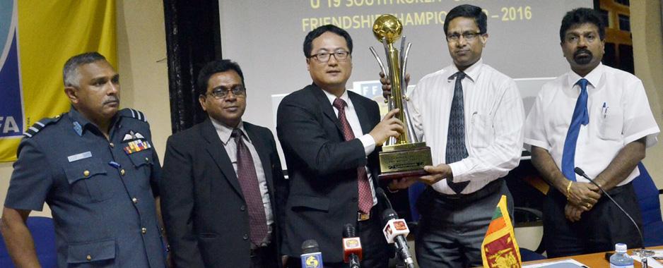 S. Korea presents USD 25,000 to improve junior football in Sri Lanka