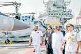 Indian aircraft carrier in tie-boosting visit to Colombo