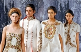 Indian designer brings home-town weaves to the stage