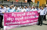 Inland Revenue Department Employee Protest against Finance Ministry