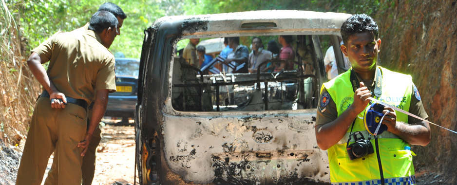 Killing-spree in Lanka, 'Dankotuwa' bodies burnt beyond recognition hamper police investigations