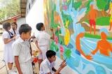 Children around Sri Lanka paint for water in Brandix initiative