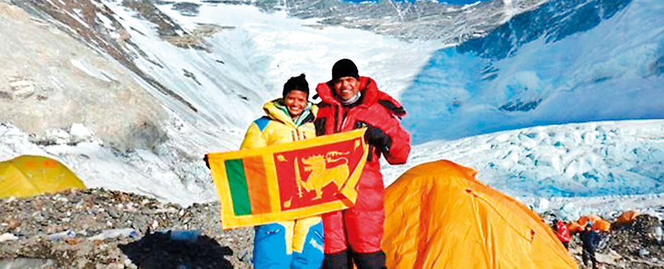 Jayanthi makes history  on Everest peak