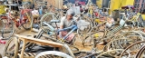Mechanics flooded with motor cycles that had gone under
