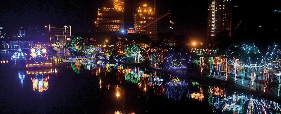 Vesak lights up Colombo