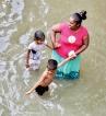 Children caught in floods