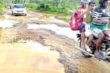 The renovation of Weralupa Road in Ratnapura