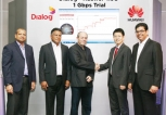 South East Asia's first 4.5G Demo Clocks 1GBps on Dialog's LTE Network