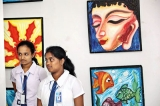 Uduvil Girls' College exhibit their art in Colombo