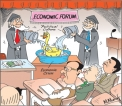 Advice from Economic Forum: Pouring water on a duck's back