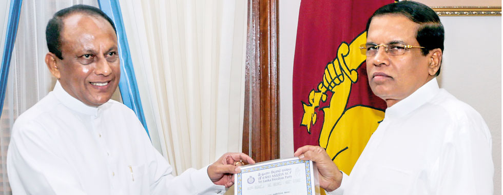 SLFP split at hand;Sirisena holds urgent talks with CBK and party seniors