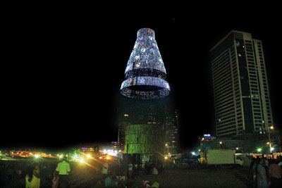 Unforeseen events but organisers say world's tallest Christmas ...