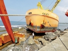 Walkers Colombo shipyard  salvages dredger in Hikkaduwa