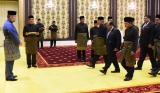 A.J.M. Muzammil presents credentials to the King of Malaysia