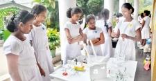 Students of Devi Balika Vidyalaya display their inventions at DESAFIO 2K17