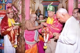 President, PM in pooja at Trinco Kali Kovil