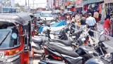 Kalutara's bustling town centre