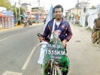 Hitting the road on his cycle for senior citizens