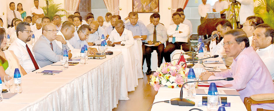 President upbeat despite setbacks and continuing UNP-SLFP disputes