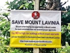 Mt. Lavinia residents protest against illegal constructions