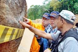 Japan landslides prevention experts at work