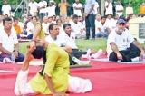 President Maithripala Sirisena joined yoga enthusiasts