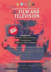slf starts diploma in filmmaking and television the sunday times  the two and a half year long course specialises on film direction script writing cinematography editing and sound designing