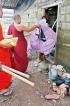 Nepali monks help Kaduwela flood victims