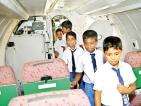 Jaffna SF HQ, SLAF host students at Palaly