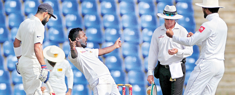 Young Lankan spinners hurt Indian pride