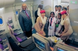 School children treated to tour of Emirates A380