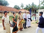 Couple presents land to school for playground