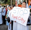 Women from fishing community protest against Port City