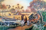 Ballpoint strokes bring to life village scenes