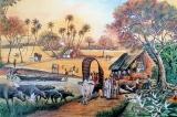 Ballpoint strokes bring to life village scenes