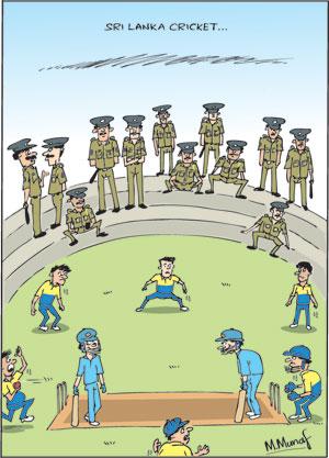 Pol Corr cartoon in sri lankan news
