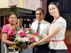 Suneetha   felicitated by Russian Centre