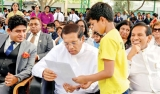 President visits Lankan School in Doha, Qatar