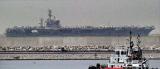 US aircraft carrier Nimitz comes a – calling