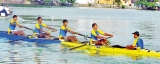 Royal oarsmen paint Beira Lake in Blue and Gold