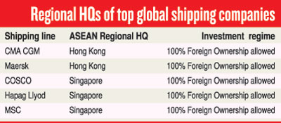 Maritime hub: Case for the liberalisation of shipping and