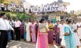 Principal felicitated as Erathne MV Kuruvita wins 'Best School' award