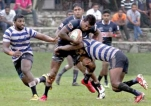 Sailors stay  on course