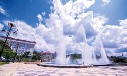 'Dancing' fountain in Matale