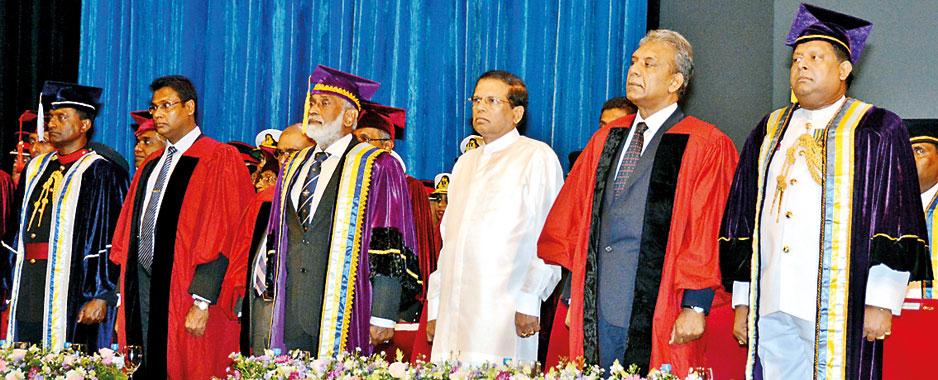 Graduation at Kotelawala Defence University