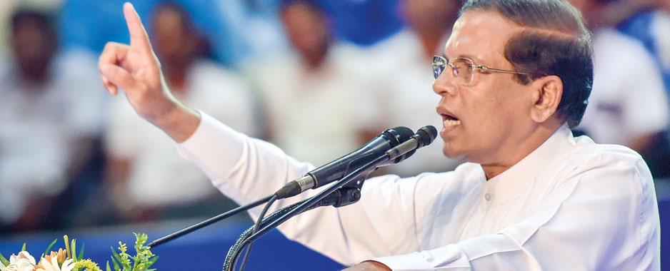 As polls campaign begins, Sirisena brings bribery and corruption to the fore